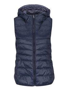 Tmavě modrá prošívaná lehká vesta s kapucí ONLY Tahoe
