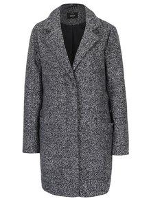 Tmavě šedý žíhaný kabát ONLY Arya