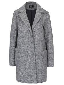 Světle šedý žíhaný kabát ONLY Arya