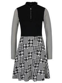 Rochie negru & alb cu aspect 2 în 1 - Desigual Celine