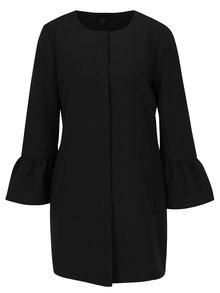 Čierny kabát s volánovými rukávmi ONLY Chai