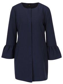 Tmavomodrý kabát s volánovými rukávmi ONLY Chai