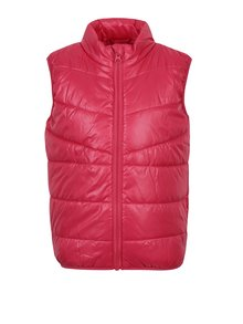 Ružová dievčenská prešívaná vesta name it Mylane
