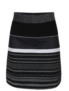 Černá sukně se vzory ve stříbrné barvě Desigual Anders