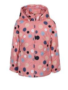 Ružová dievčenská bodkovaná bunda name it Mello