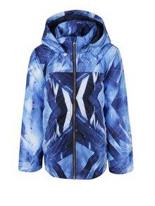 Modrá vzorovaná chlapčenská bunda s kapucňou name it Pellon