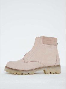 Staroružové kožené členkové topánky Pieces Pamelina