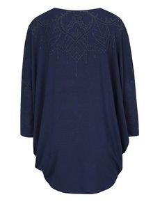 Bluză albastră asimetrică - Desigual Deborah