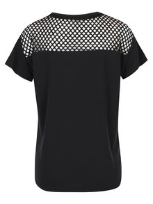 Černé tričko se síťovanými detaily ONLY Haly