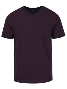 Vínové pruhované tričko Jack & Jones Premium Gladstone