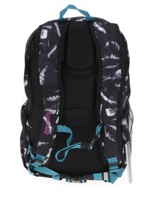 Černý batoh s motivem pírek Meatfly Basejumper 3 20 l