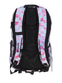 Zeleno-růžový kostkovaný batoh Meatfly Basejumper 3 20 l