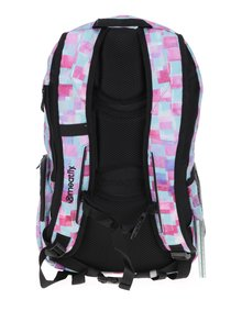 Zeleno-ružový kockovaný batoh Meatfly Basejumper 3 20 l
