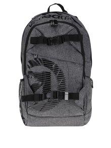 Rucsac unisex gri & negru cu print - Meatfly Basejumper 3 20 l