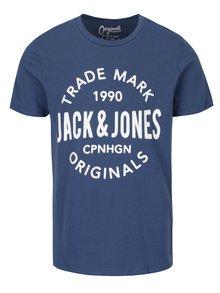 Modré tričko s potiskem Jack & Jones Carry