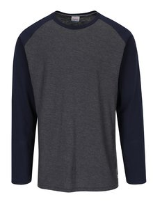 Modro-sivé tričko s dlhým rukávom Jack & Jones New Stan