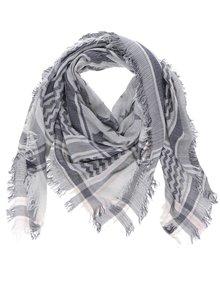 Šedo-krémový vzorovaný holčičí šátek Name it Kabi