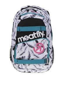 Bílý batoh s motivem pírek Meatfly Exile 2 22 l