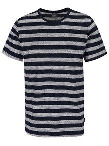 Šedo-modré pruhované tričko Jack & Jones Cinnema