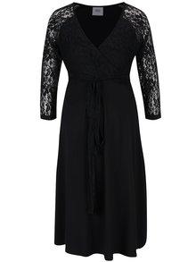 Černé těhotenské šaty s krajkovými detaily Mama.licious Winnie