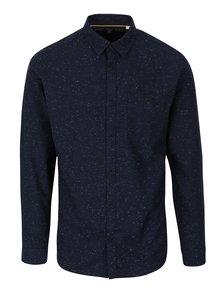 Tmavě modrá žíhaná slim fit košile s dlouhým rukávem Jack & Jones Sustain