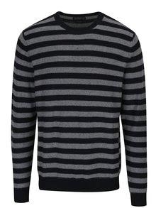 Sivo-čierny pruhovaný sveter Jack & Jones Wall