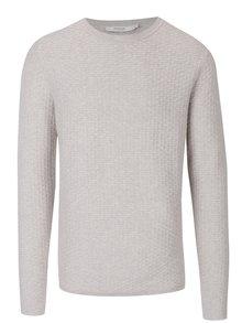 Krémový sveter s jemným vzorom Jack & Jones Brick