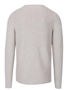 Pulover crem tricotat pentru bărbați -  Jack & Jones Brick