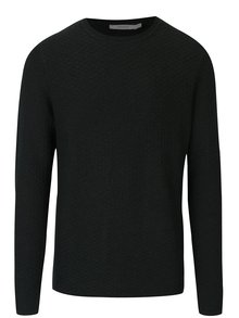 Tmavě zelený svetr s jemným vzorem Jack & Jones Brick