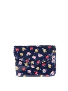 Tmavomodrá dámska kvetovaná peňaženka Cath Kidston