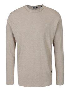 Kaki melírované tričko s dlhým rukávom ONLY & SONS Alan