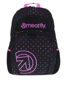 Růžovo-černý puntíkovaný batoh Meatfly Vault 26 l