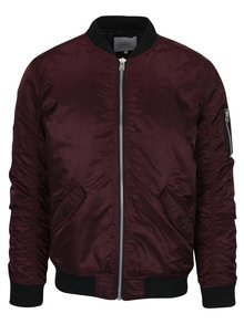 Vínový bomber Jack & Jones Bias