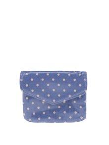 Modrá dámska bodkovaná peňaženka Cath Kidston