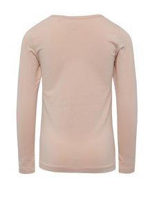 Ružové dievčenské tričko s dlhým rukávom name it Viola