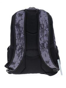 Šedý vzorovaný batoh Meatfly Vault 26 l