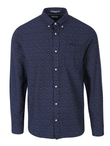 Tmavomodrá vzorovaná slim fit košeľa Jack & Jones Blue Fix