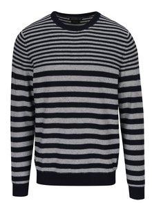 Sivo-modrý pruhovaný sveter Jack & Jones Wall