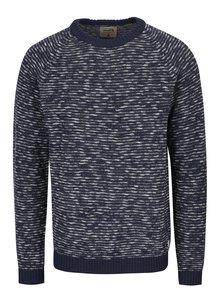 Tmavomodrý vzorovaný sveter s prímesou ľanu Jack & Jones Joey