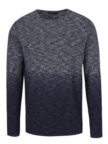 Šedo-modrý svetr s ombré efektem Jack & Jones Dip