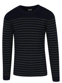 Zeleno-modrý pruhovaný sveter Jack & Jones Sailor