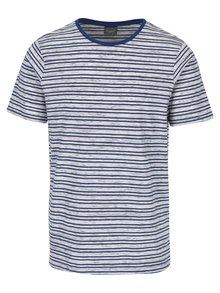 Tricou albastru & crem cu model în dungi Jack & Jones Cinnema