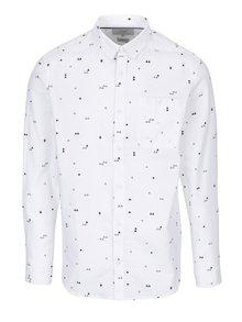 Bílá vzorovaná slim fit košile Jack & Jones Triton