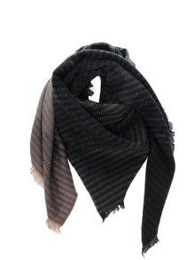 Šedo-hnědý vzorovaný šátek Pieces Jolly