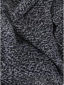 Eșarfă tricotată alb negru Pieces Billi