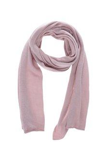 Ružový šál s prímesou kašmíru Selected Femme Leilana