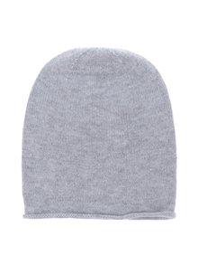 Sivá žíhaná čiapka s prímesou kašmíru Selected Femme Leilana