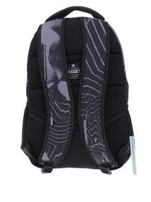 Černo-šedý vzorovaný batoh NUGGET Scrambler 26 l