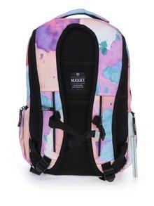 Ružový dámsky vzorovaný batoh NUGGET Bradley 24 l