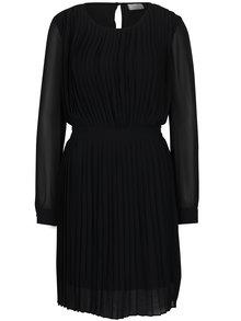 Černé plisované šaty s průstřihem na zádech VILA Millie
